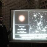 روز جهانی نجوم 1388 - مسجد کبود تبریز - غرفه پخش فیلم و اسلاید