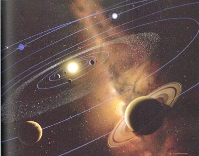 نمایش نمادین منظومه شمسی