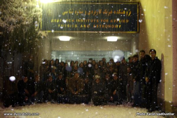 عکس دست جمعی - انجمن نجوم آیاز تبریز - ماه گرفتگی 19 آذر
