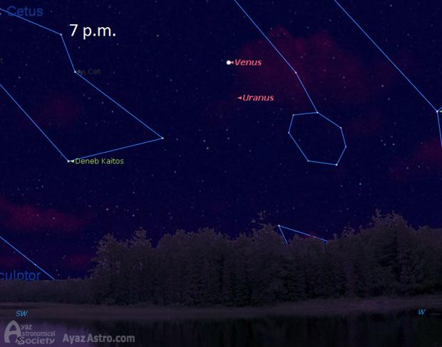 زهره و اورانوس
