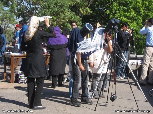 برنامه رصد گذر زهره در انجمن آیاز تبریز