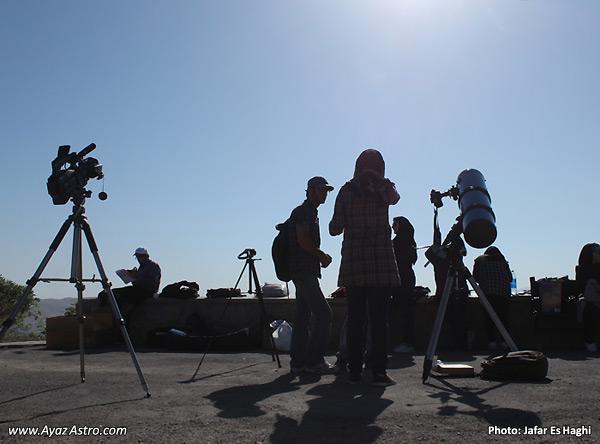 برنامه رصد گذر زهره در انجمن آیاز تبریز - فیلمبرداری و عکسبرداری از گذر