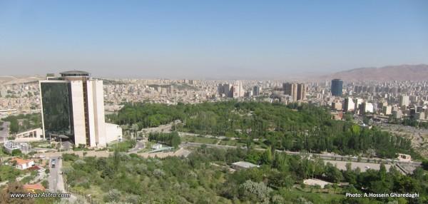 برنامه رصد گذر زهره در انجمن آیاز تبریز - نمایی از تبریز از بالای تپه پرچم